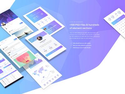 Decode gradient modern psd mockup webdesign design