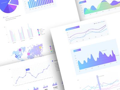 Doom - Charts theme template website ux ui gradient modern psd mockup webdesign design
