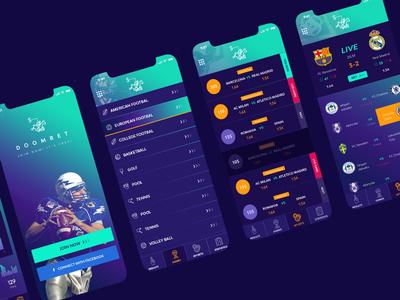 Sports Betting App template doom sport milothemes design uiux ui app betting