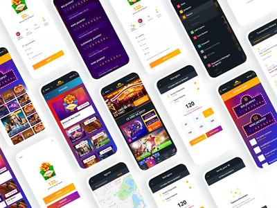 Eldorado Casino UI game design casino games uiux uidesign app design application app design ios ui kit gambling gaming casino mobile ux ui