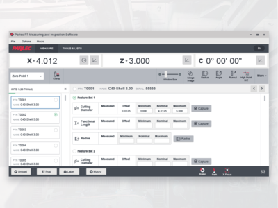 Parlec P7 Measuring and Inspection Software