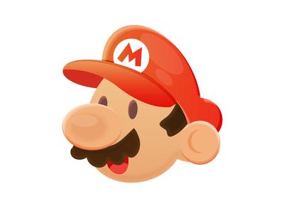 Mario badge mario super mario