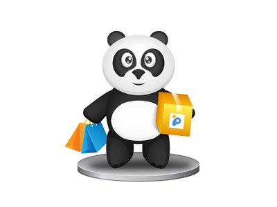 Pandao onboarding illustration shop onboarding pandao panda