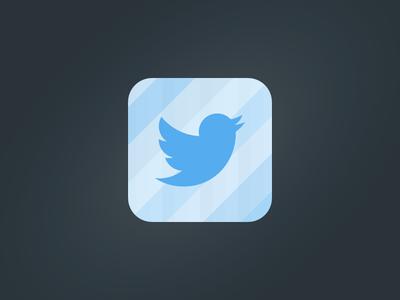 Twitter Mirror App Icon twitter twitter mirror mirror app icon app icon reflection cut glass