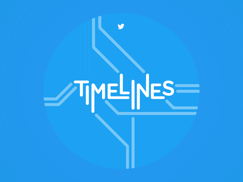 Timelines Team Logo subway map subway logo timelines blue twitter