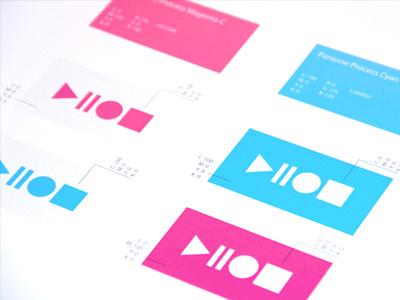 Ludovic Richard Channel 110 Branding logo channel 110 shapes concept cyan magenta