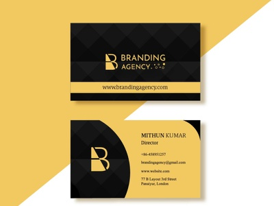 Modern corporate business card template design by Mithun luxury business card minimal business card