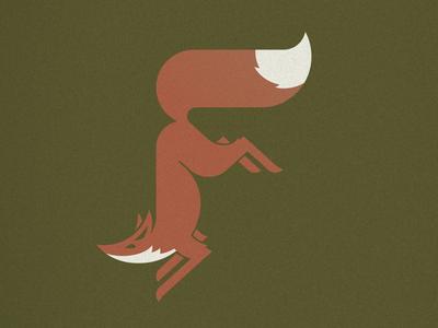 F is for Fox minimal letter mark logo icon f fox