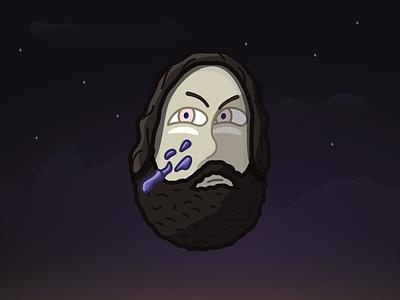 Barbarian logo cartoon face streamer purple barbarian