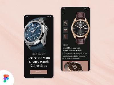Luxury Watch Store App flat web branding app ui minimal design