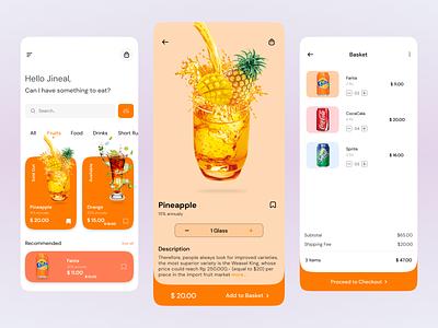 Food Delivery Mobile App food delivery app online food shop fagma ui e commerce app ui design ui e commerch app e commech appui ux app design 3d shop app design