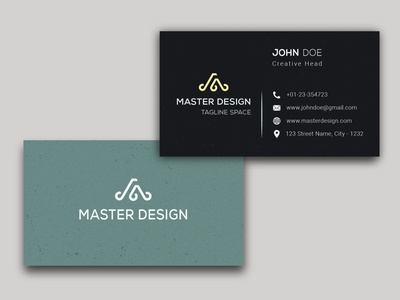 Minimalist - Business card gold business card business card template business card mockup trending card icon business card modern clean luxury design minimal minimalist visiting card business card design