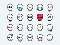 Skull Smileys
