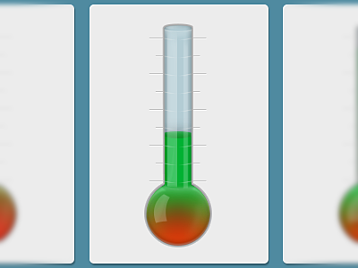 Truth Barometer truth barometer glass green red politics thermometer