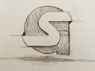 svengiesen.de Logo 2015 WIP drawing pencil shadow space negative word letter logo