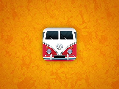 VW Bulli iOS Icon ios iphone icon bulli vw transporter t1