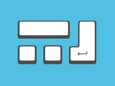 wasmitcomputern.de Logo keys keyboard bold perspective illustration logo