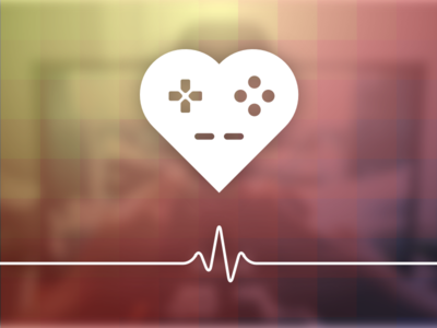 spielemitherz.de Logo gamepad heartbeat love console videogame controller play heart