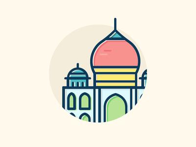 Colorful Taj Mahal
