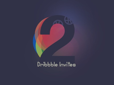 2 Dribbble Invites glow 2 prospect two gift shot first invite dribbble draft give illustration