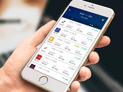 Flight Booking App boarding price calss duration iphone pass flight listing booking book app