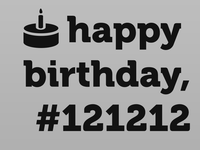 12/12/12 is special for someone