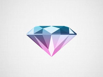 Diamond logo diamond green pink jewels