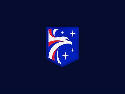 Eagle Logo wing fly badge logo badge star freedom american usa eagle bird design logo 3whales