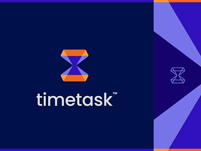 timetask Logo productivity track todo app todo project organize sandclock task time app design logo 3whales