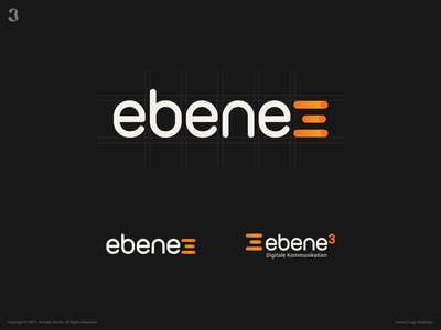 ebene3 Logo brand identity brand design branding brand ebene3 typogaphy logodesign design logo 3whales