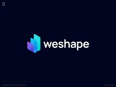 WeShape Logo Design growth w letter logo w letter w logo website design webdesign website branding logodesign design logo 3whales
