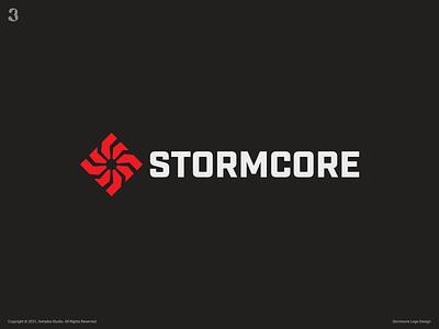 Stormcore Logo control drive motion thunder storm logodesign design logo 3whales