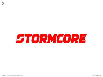 Stormcore Logo negativespace drive motor thunder s sletter logodesign design logo 3whales