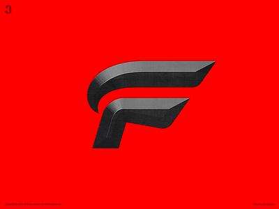 Falcon Logo Design typography wordmark letter f falcon logodesign design logo 3whales