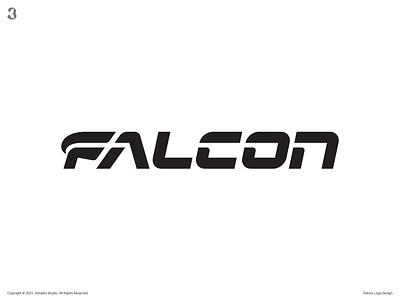 Falcon Logo Design typography wordmark letter f eagle falcon logodesign design logo 3whales