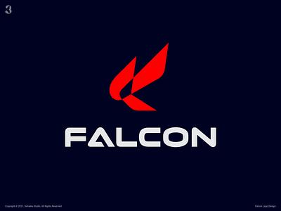 Falcon Logo Design bird fly wings eagle falcon fletter f logodesign design logo 3whales