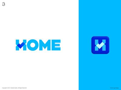 H for Home hletter h find check house home logodesign design logo 3whales