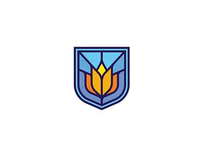 Lotus logo design glass lineart lotus flower lotus