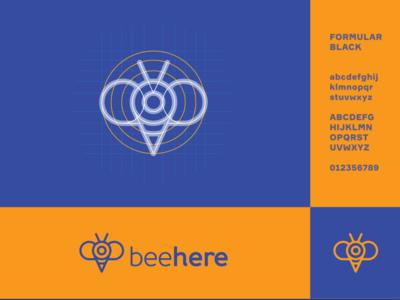 Beehere Logo Design