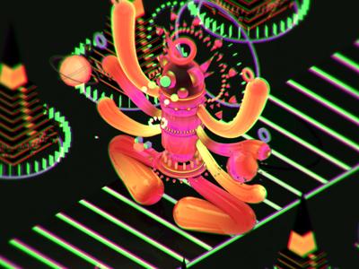Mushroom Rollercoaster illustration design character 3d