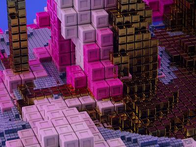 Cubes color illustration design 3d