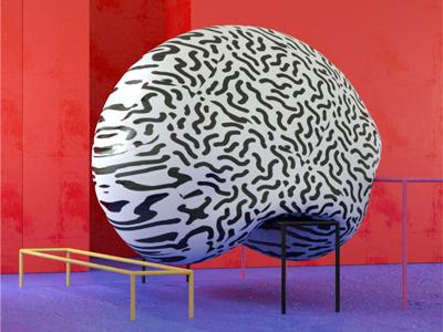 Blobdribble color illustration design 3d