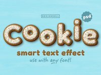 Cookie Photoshop Text Effect