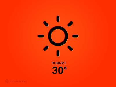 SUNNY sketch website web illustration face design simple weather icon