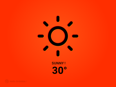 SUNNY sketch website web illustration face design simple weather icon