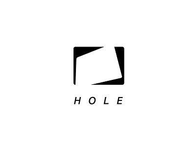 HOLE mono hole simple white black logo icon