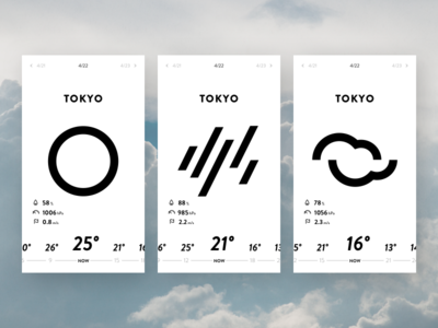 Weather App UI minimal ui weather mobile android ios interface illustration icons icon