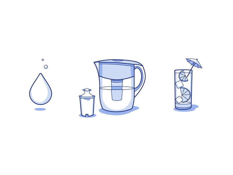 Filtered Water Icons water clean web ui vector icon illustration