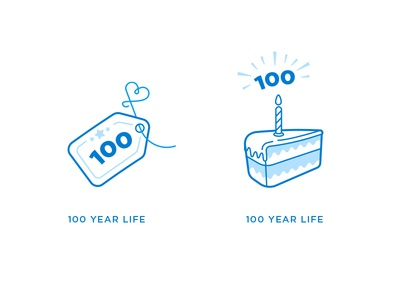 100 Year Life Warranty Icons