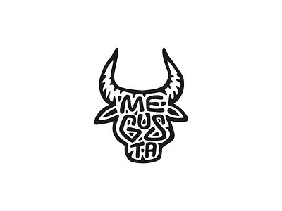 MeGusta food restaurant cuisine bull spanish type emblem symbol sign logo